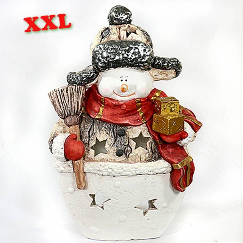 Xxl schneemann dekofigur windlicht aussendeko weihnacht for Xxl windlicht