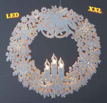 "LED Fensterbild ""Adventskranz"" XL"