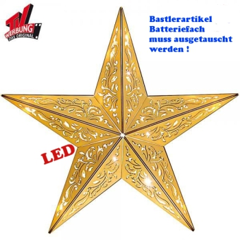 Weihnachtsstern Holz  40 cm LED B-Ware Kabellos