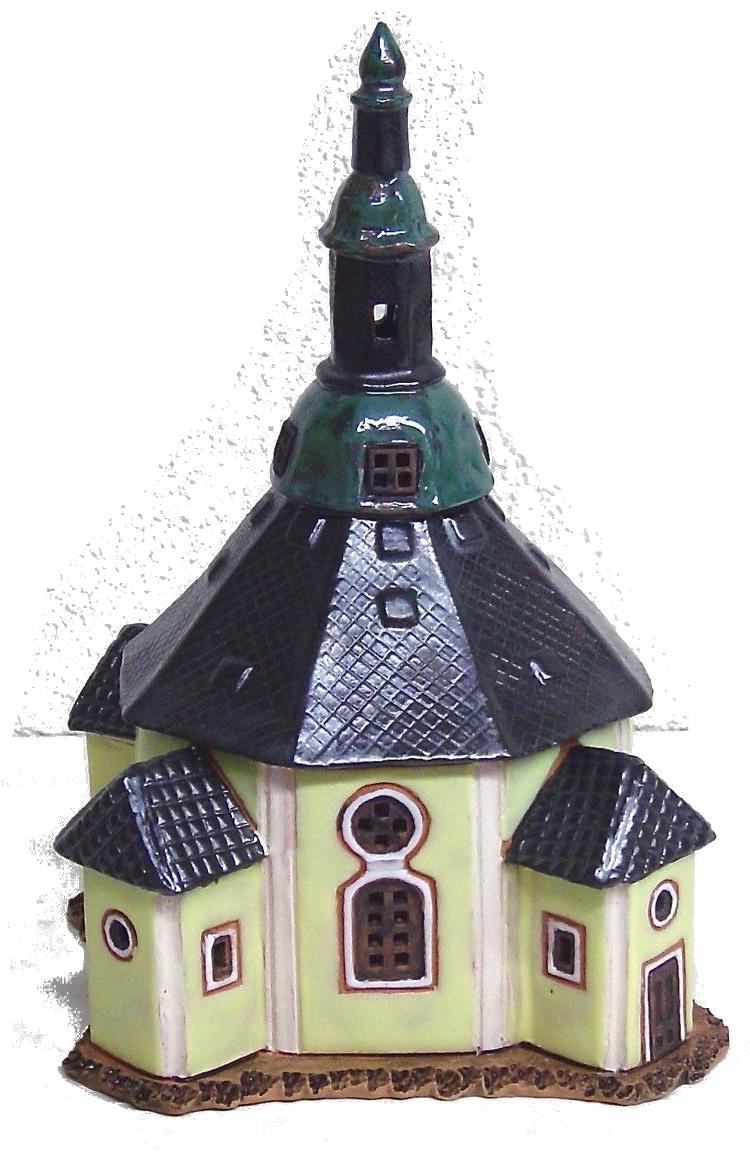 keramik lichthaus seiffener kirche weihnachtsdeko vogtland souvenir s. Black Bedroom Furniture Sets. Home Design Ideas